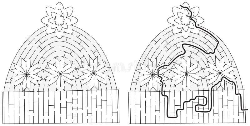 Laberinto del casquillo del invierno libre illustration
