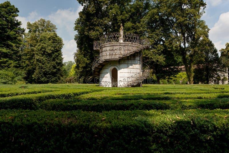 Laberinto del chalet Pisani, Stra, Véneto, Italia del parque del amor fotografía de archivo libre de regalías