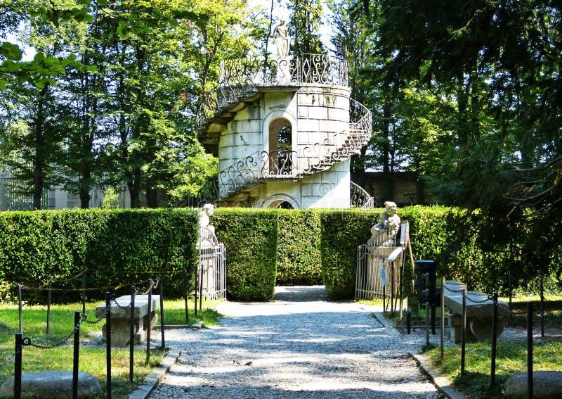 Laberinto del chalet Pisani, chalet veneciano famoso en Italia fotografía de archivo libre de regalías