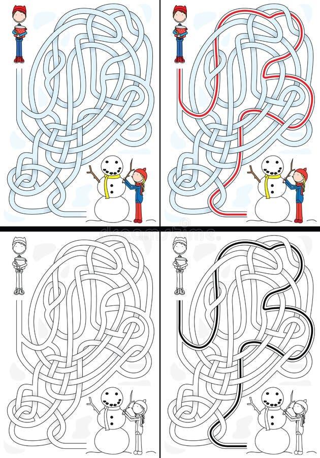 Laberinto del muñeco de nieve libre illustration
