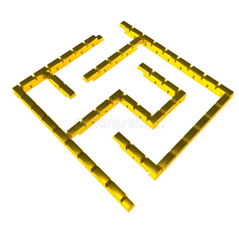 Laberinto del oro stock de ilustración