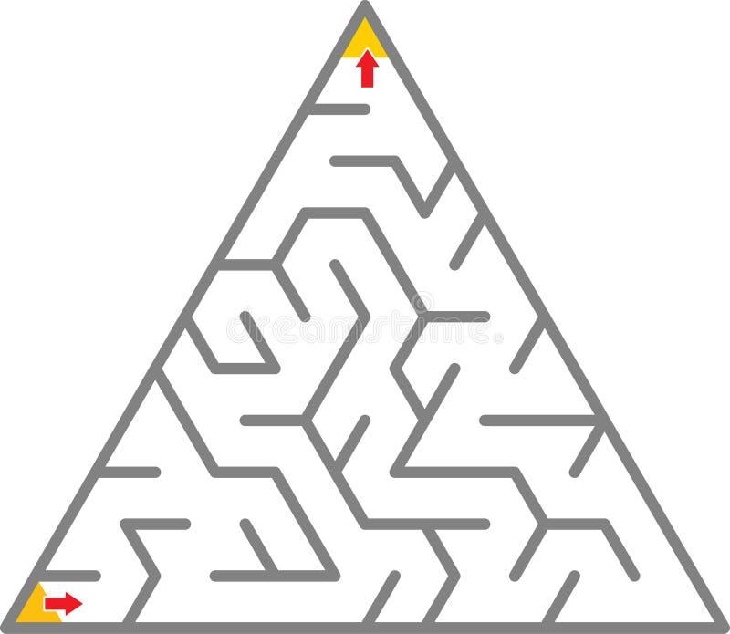 Laberinto del triángulo ilustración del vector