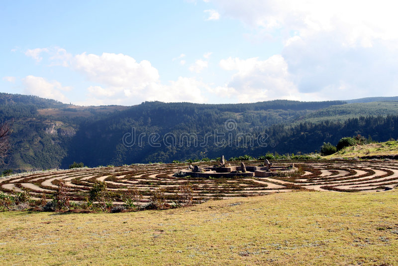 Laberinto, Hogsback, Suráfrica imagen de archivo libre de regalías