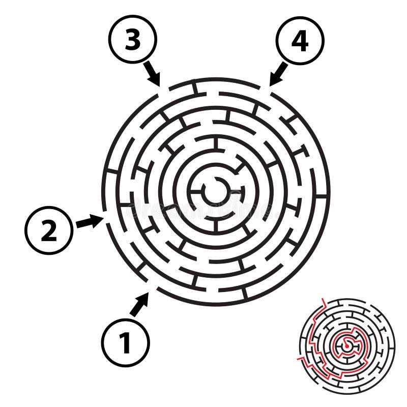 Laberinto/laberinto redondos del vector Aislado libre illustration