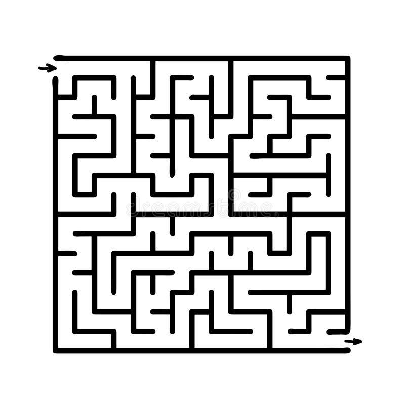 Laberinto negro del vector libre illustration