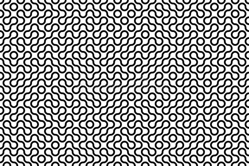 Laberinto textured inconsútil ilustración del vector