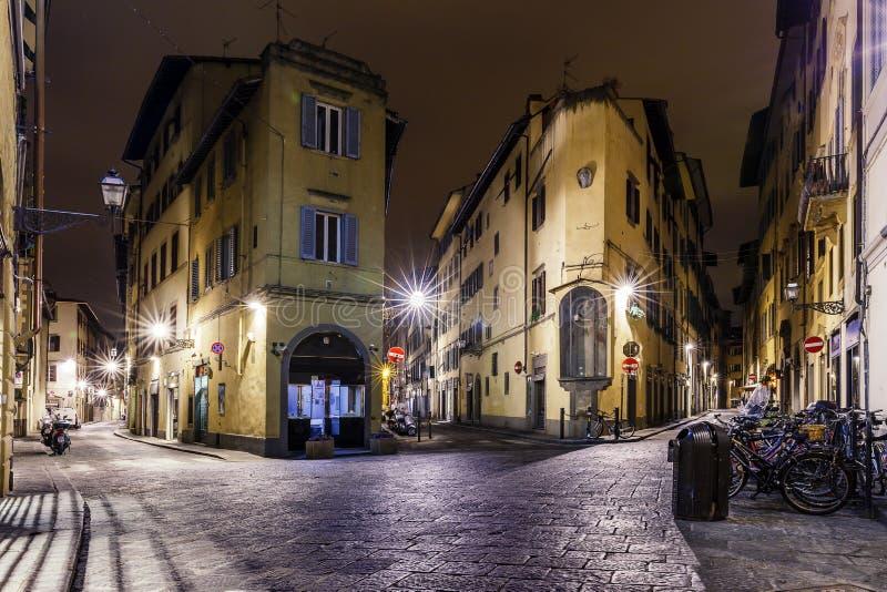 Laberintos de la noche de Florencia Italia fotografía de archivo