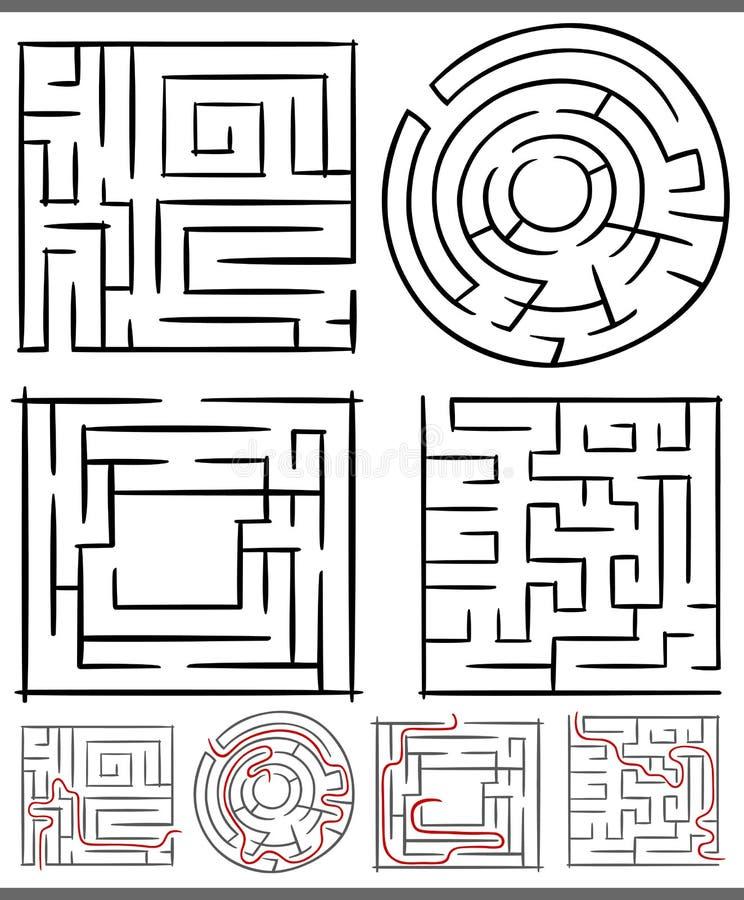 Download Laberintos O Diagramas De Los Laberintos Fijados Ilustración del Vector - Ilustración de niños, shape: 41910251