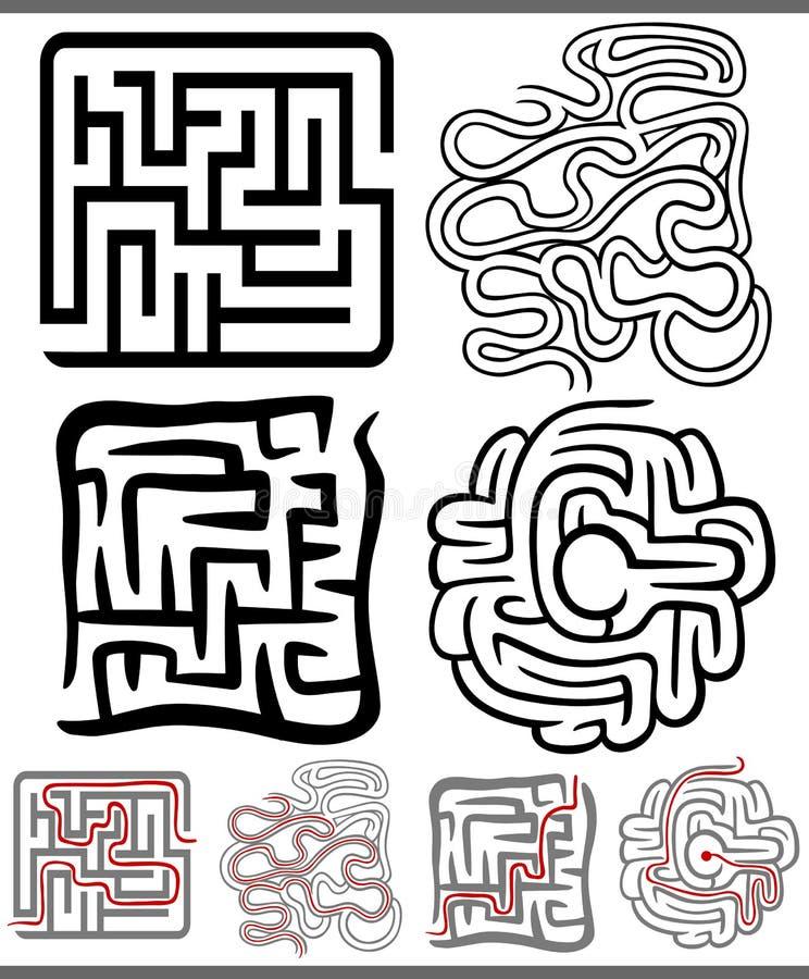 Download Laberintos O Diagramas De Los Laberintos Fijados Ilustración del Vector - Ilustración de laberinto, salida: 44857209
