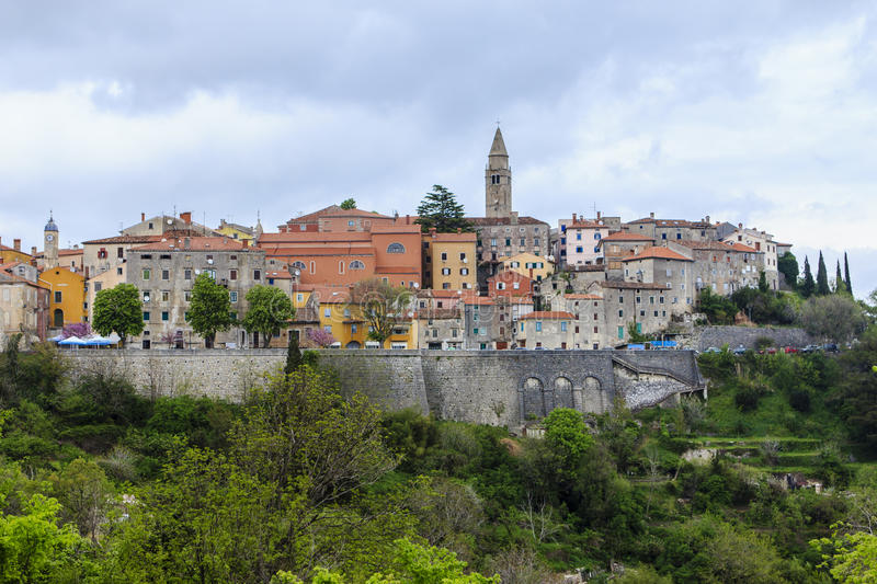 Labin, Croatia. A view at Labin, a former mining town, now is it a place for artists, Istria, Croatia royalty free stock images