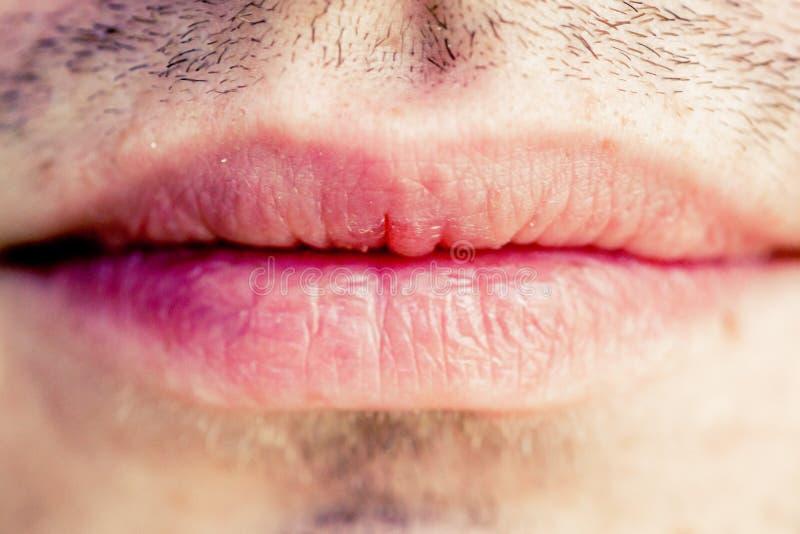 Labios masculinos fotografía de archivo