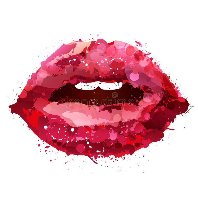 Labios pintados libre illustration