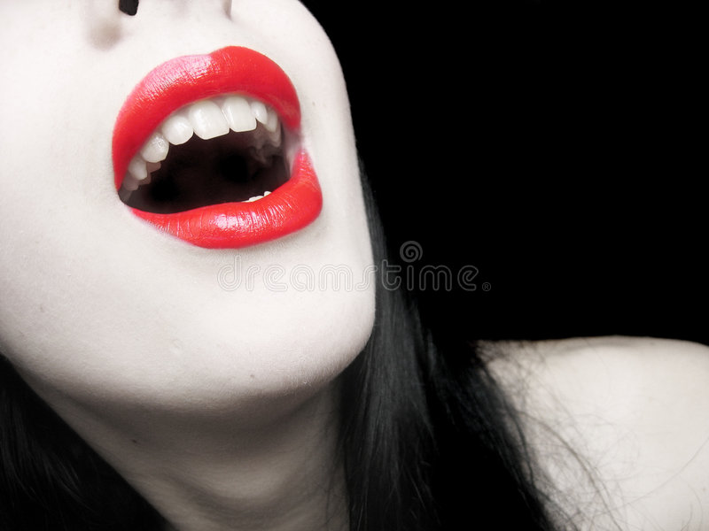 Labios rojos foto de archivo libre de regalías