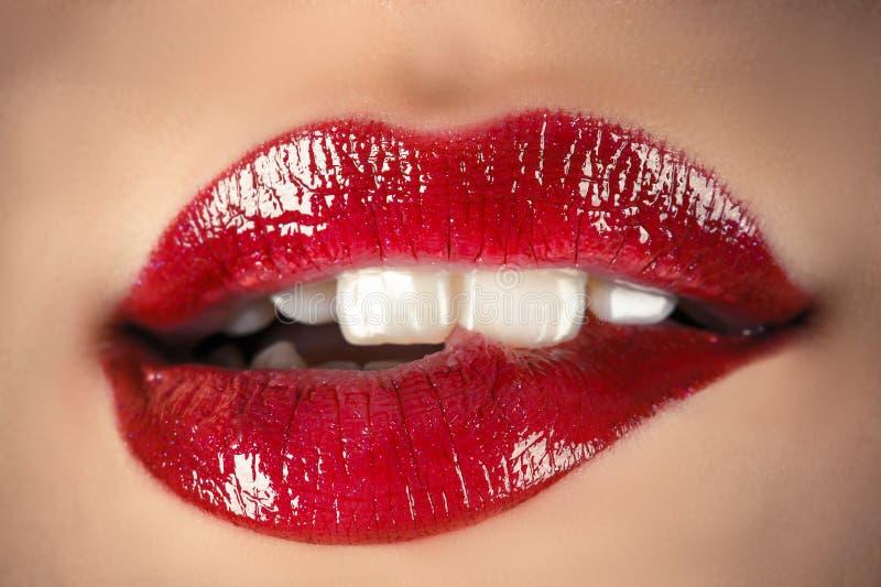 Labios sensuales foto de archivo libre de regalías