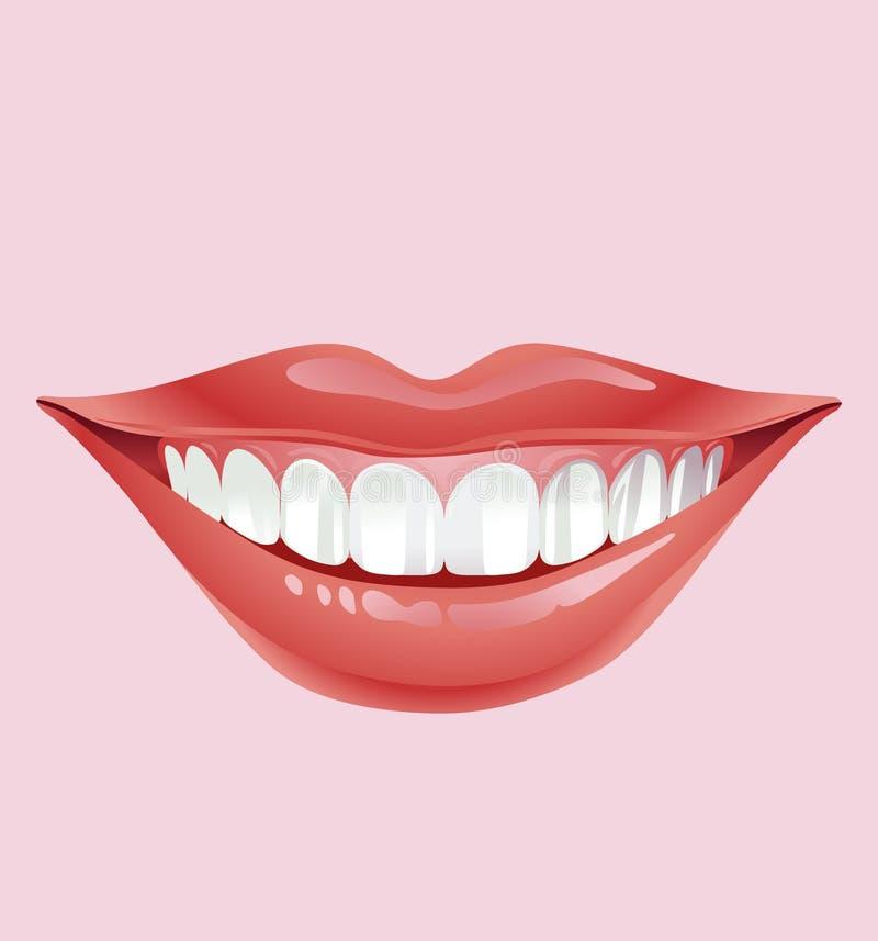 Labios sonrientes stock de ilustración
