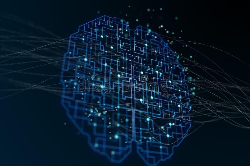 Labirint мозга цифров бесплатная иллюстрация