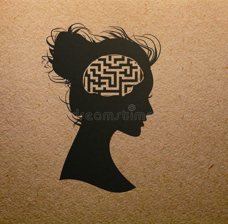 Labirint头脑 库存照片
