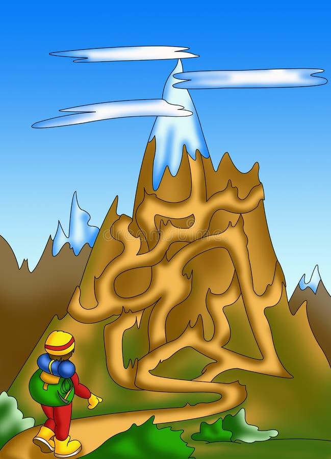 Labirinto 10 ilustração royalty free