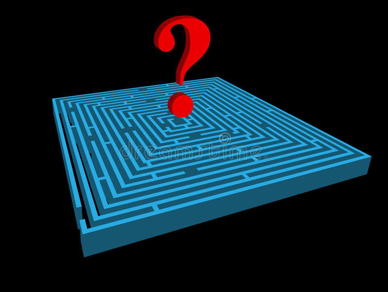 Labirinto. ilustração royalty free