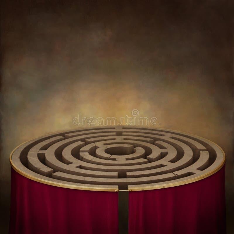 Labirinto 2 ilustração do vetor