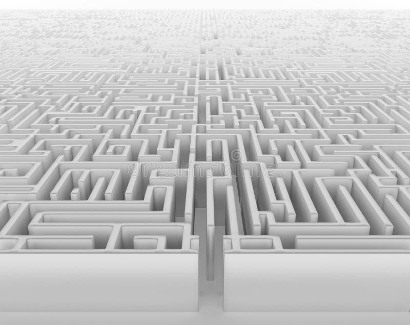 Labirinto ilustração do vetor