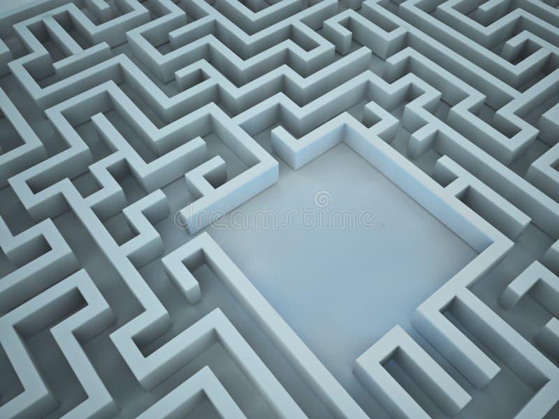 labirinto 3D ilustração stock