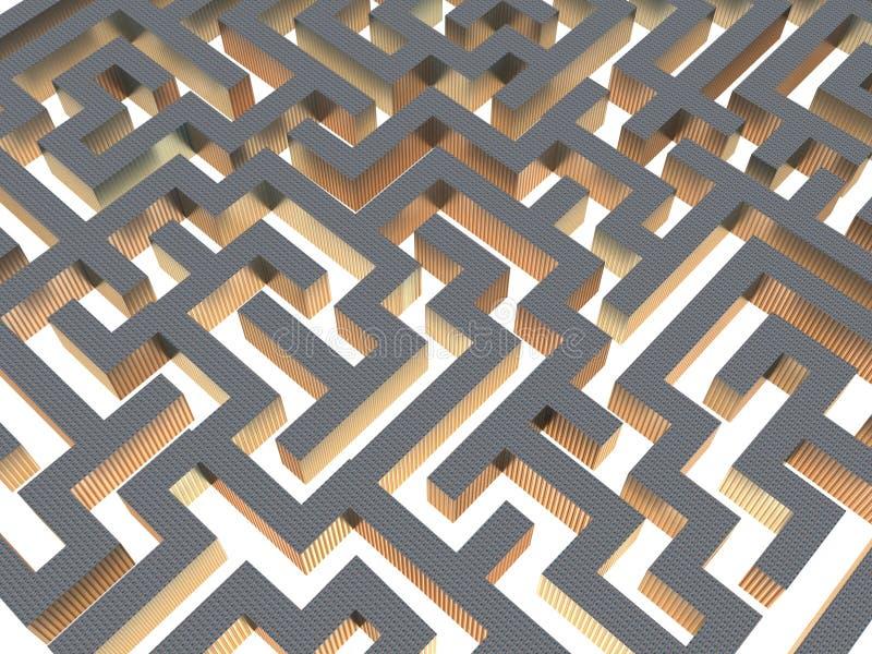labirinto 3d ilustração royalty free