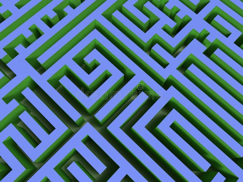 labirinto 3D ilustração do vetor