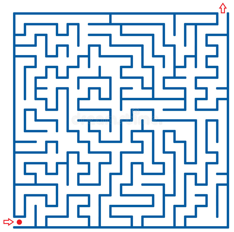 Labirinto ilustração stock