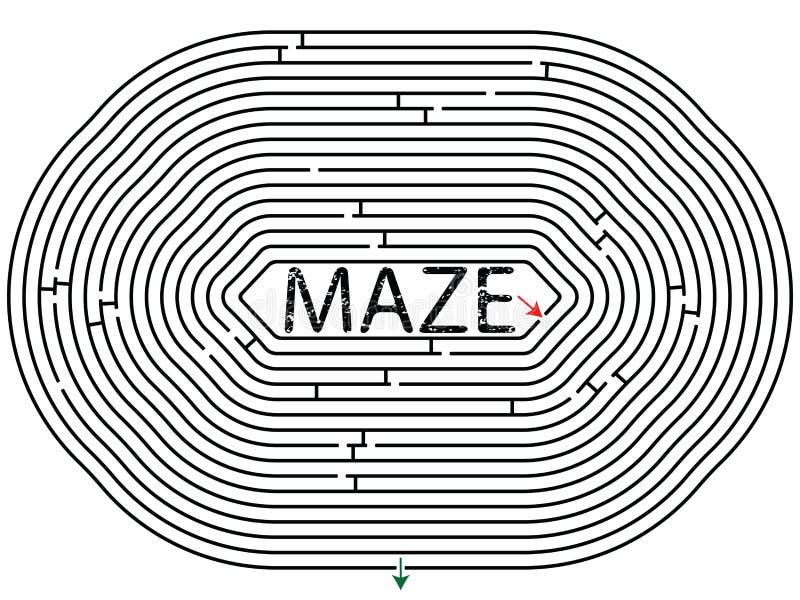 Labirinto arredondado ilustração royalty free