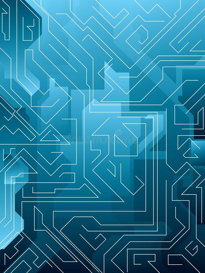 Labirinto blu elettrico royalty illustrazione gratis