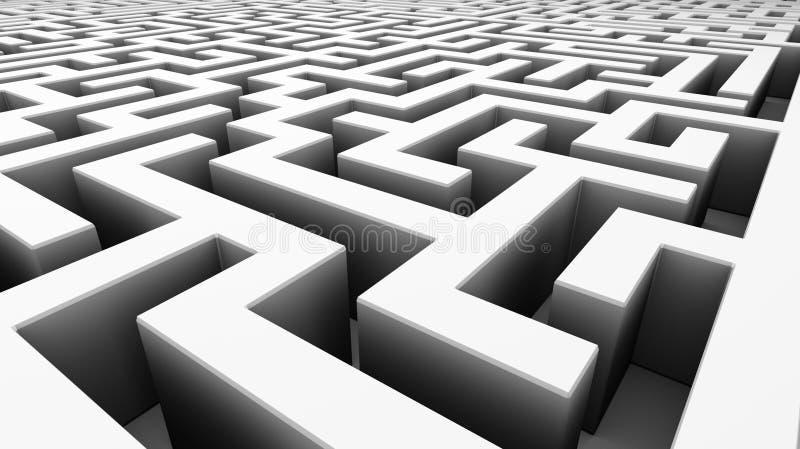 Labirinto branco ilustração do vetor