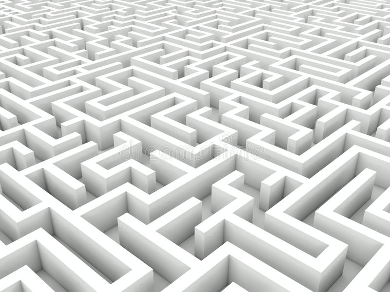 Labirinto branco ilustração royalty free