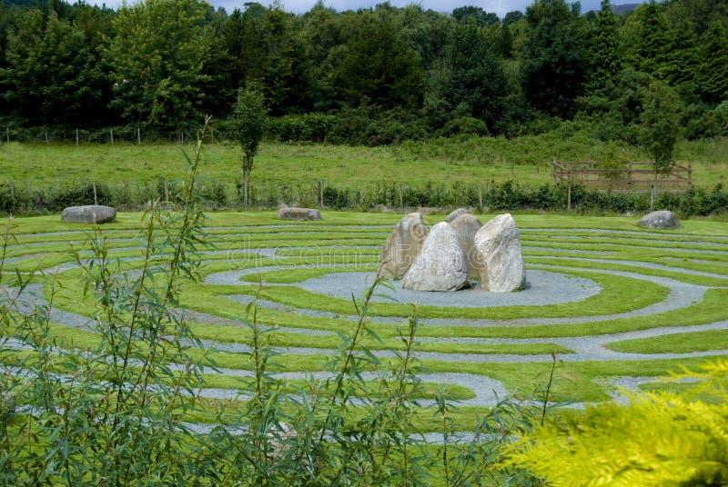 Labirinto celta em Wicklow, Ireland. imagem de stock royalty free