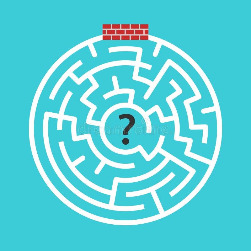 Labirinto circular murado-acima ilustração stock