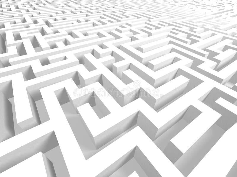 Labirinto complexo - sucesso ou falha ilustração do vetor