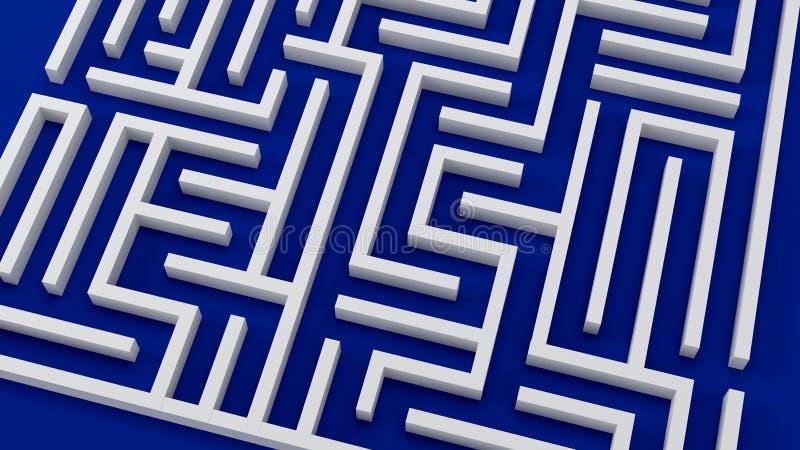 Labirinto complicado da ilustração das decisões 3D do problema da estratégia ilustração do vetor