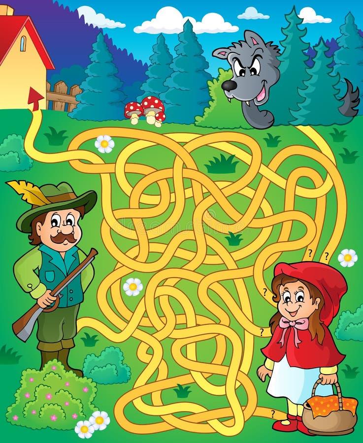 Labirinto 20 con il tema di fiaba illustrazione vettoriale