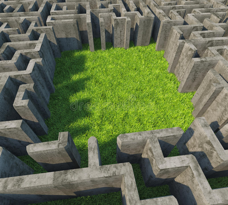 Labirinto concreto royalty illustrazione gratis