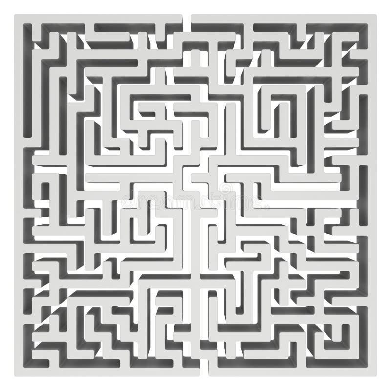 labirinto 3d Elemento do projeto da forma do labirinto ilustração do vetor
