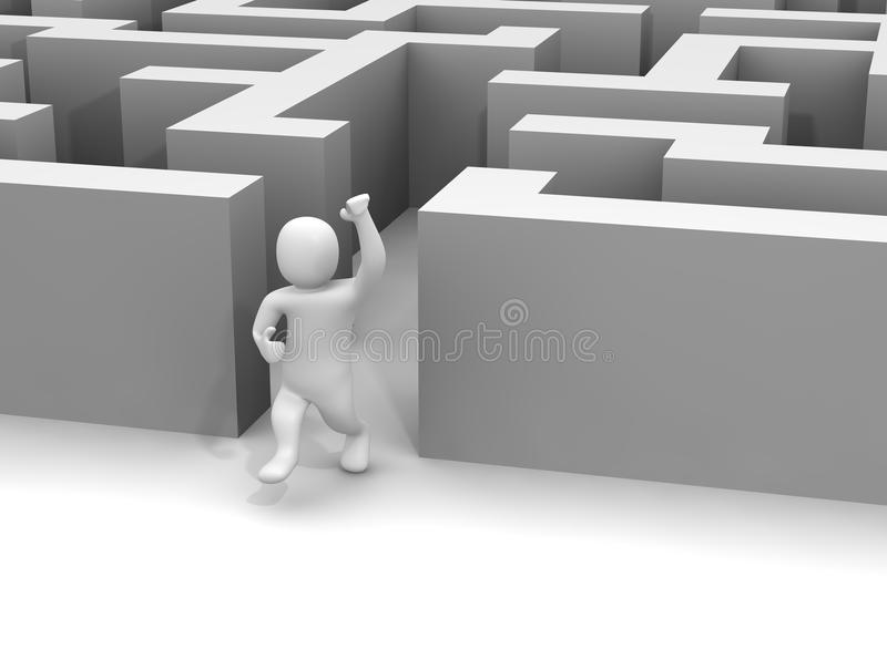 Labirinto d'evasione dell'uomo royalty illustrazione gratis