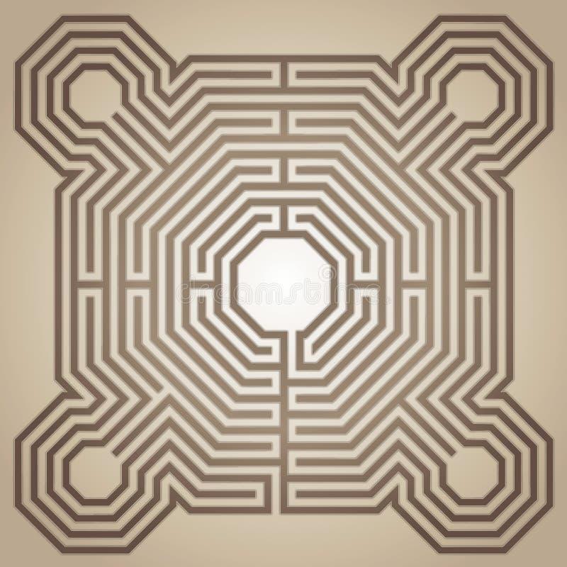 Labirinto da catedral de Reims, França ilustração do vetor