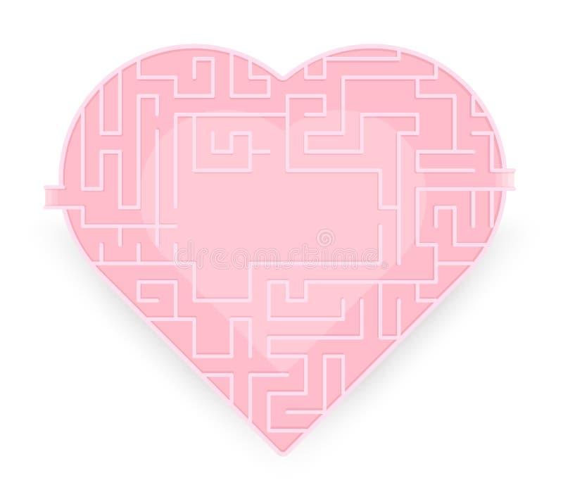 Labirinto da lareira amor verdadeiro fino Estoque do vetor ilustração royalty free