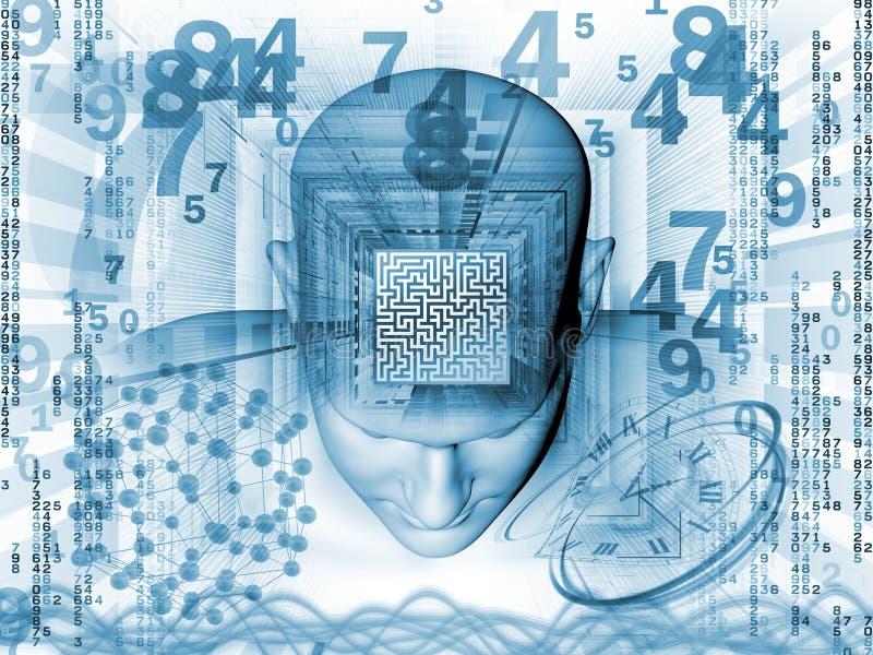 Labirinto da mente ilustração royalty free
