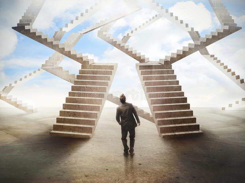 Labirinto das escadas imagem de stock