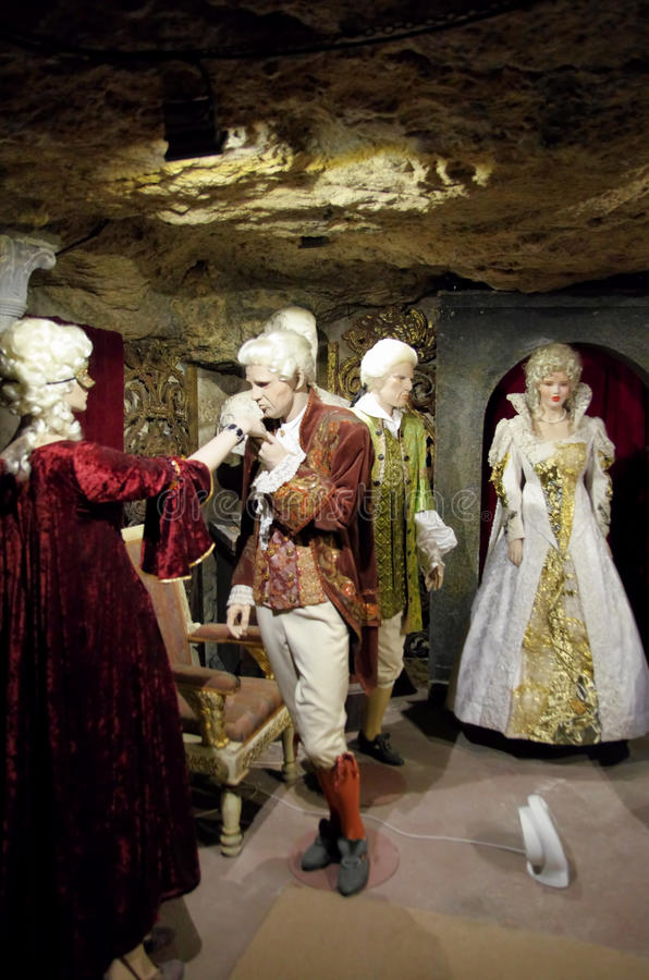 Labirinto de Buda Castle, Budapest imagem de stock royalty free