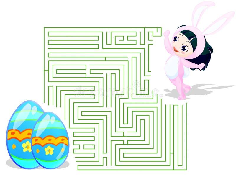Labirinto de Easter ilustração royalty free