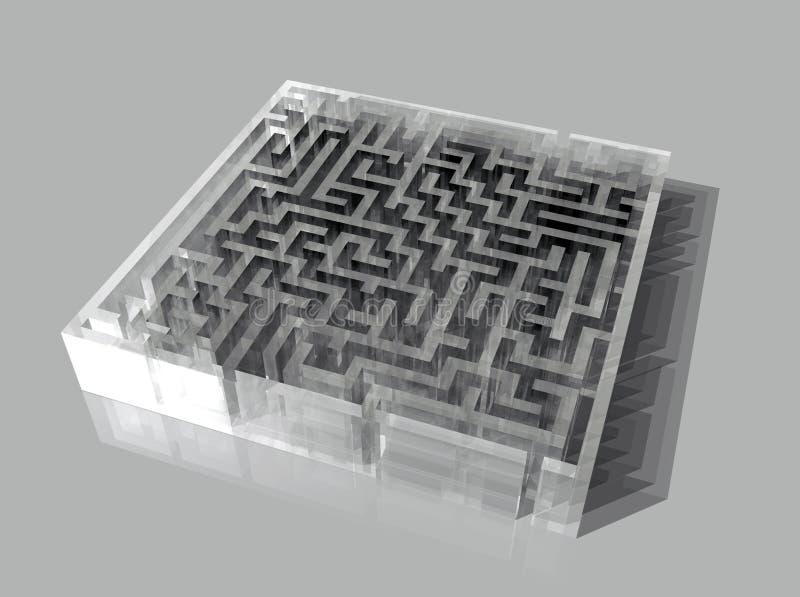 Labirinto de vidro imagem de stock