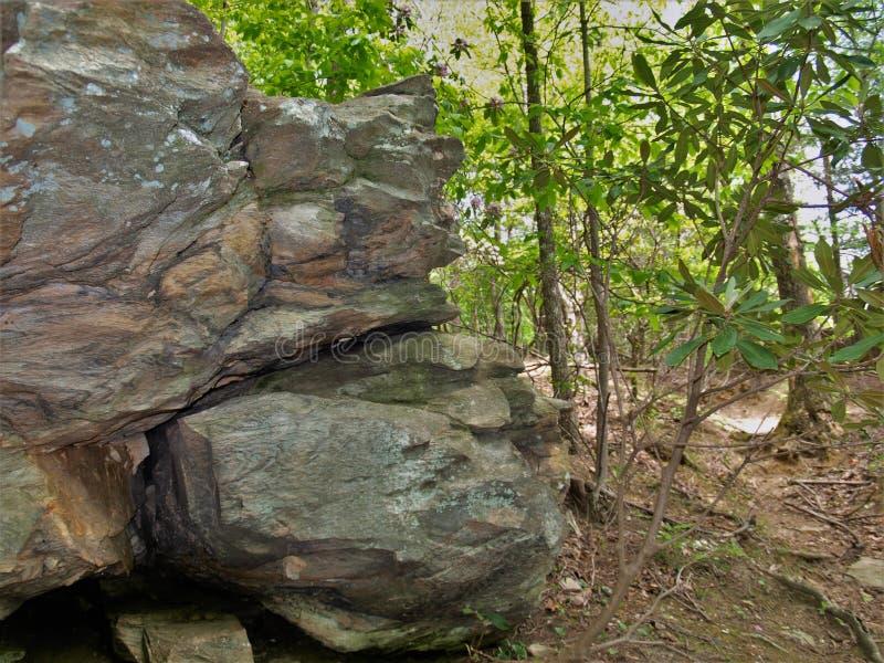 Labirinto dei massi al parco di stato d'attaccatura della roccia fotografia stock