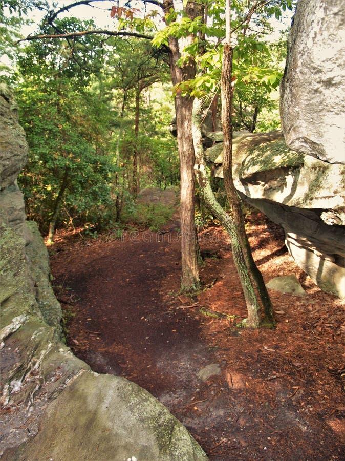Labirinto dei massi al parco di stato d'attaccatura della roccia fotografia stock libera da diritti